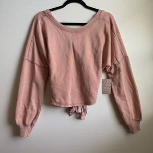 NWT Free People dusty rose sweatshirt size small